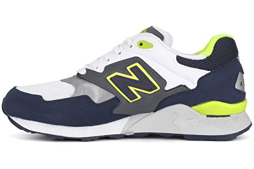 New Balance Heren 878 90s Running Color Continuüm Pack Fashion Sneaker Marine / Grijs / Lime Groen