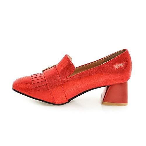 Gmmdb008379 Tacco Puro Donna Luccichio Ballet Agoolar Punta Medio Chiusa Rosso flats CwzIxW5qdW