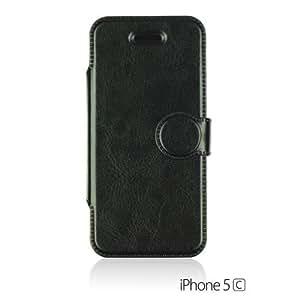 OnlineBestDigital - Premium Quality Slim-Fit Case Stand for Apple iPhone 5C - Black