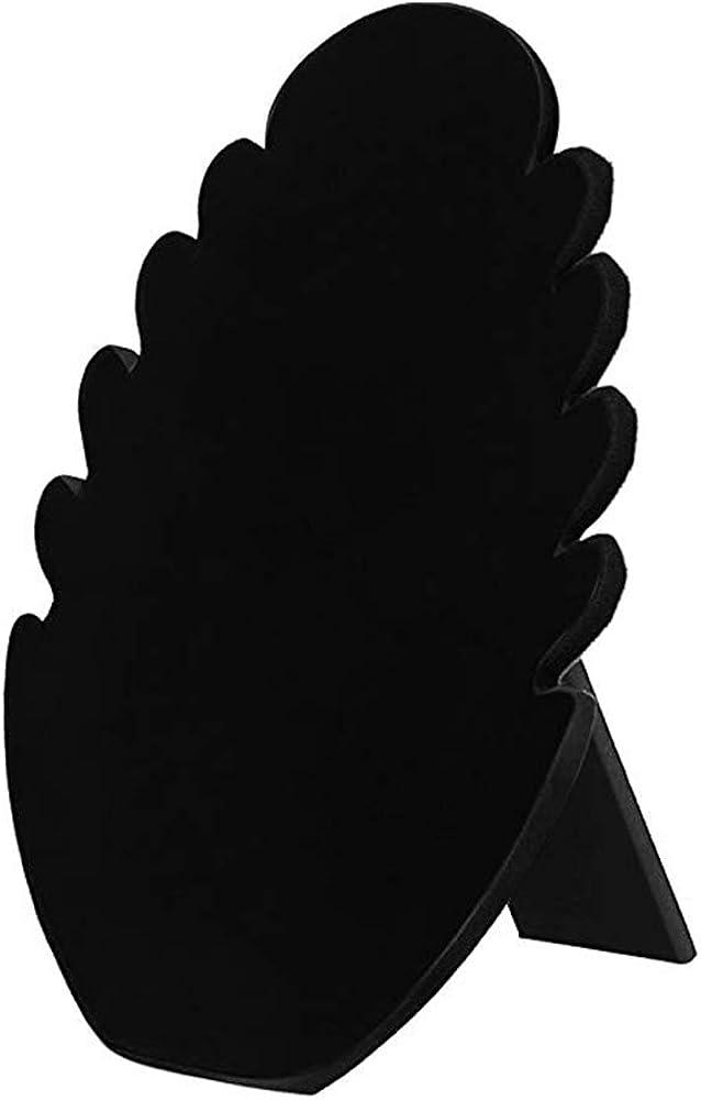 avec 5 Encoches Colliers Pr/ésentoir de Collier Supports de Cha/îne en Velours Support de Bijoux en Velours Noir Rangement de Bijoux Suspendu pour Bracelets Pr/ésentoir de Collier en Velours Noir