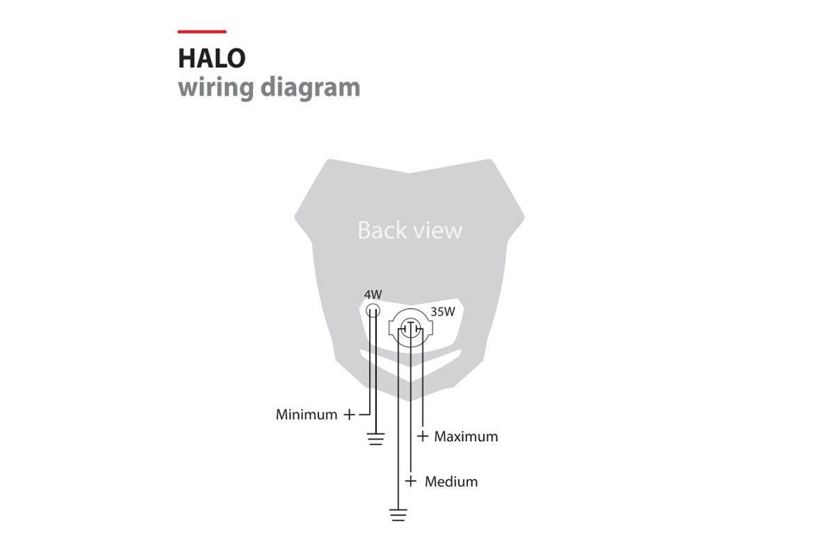 Polisport Halo Headlight Fits Honda Crf Universal Fitment Amazonco Wiring Diagram Car Motorbike