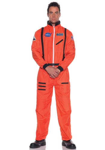 Adult Orange Costumes (Underwraps Men's Astronaut Costume, Standard)