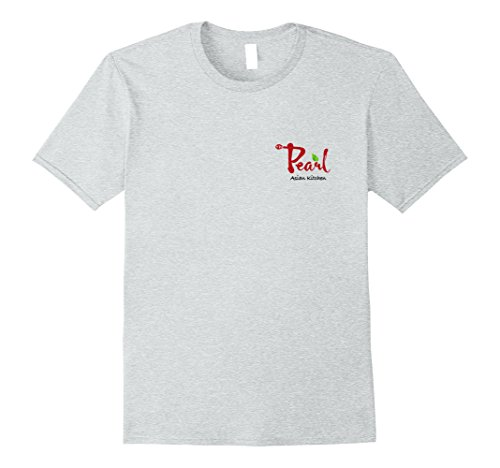 Mens The Pearl Asian Kitchen Logo Tshirt - Pocket Logo XL Heather Grey