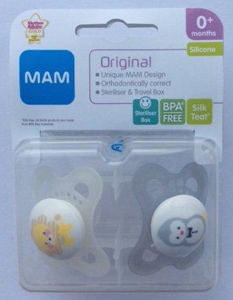 MAM Original: 2 x Chupetes 0m+ (León / Pingüino): Amazon.es ...