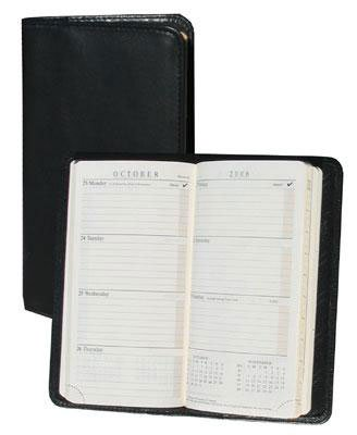 Scully Calfskin Leather Pocket Weekly Planner
