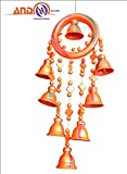 AND DESIGNS Terracotta Wind Chime - 8 Bells Ring Style Terracotta Windchime
