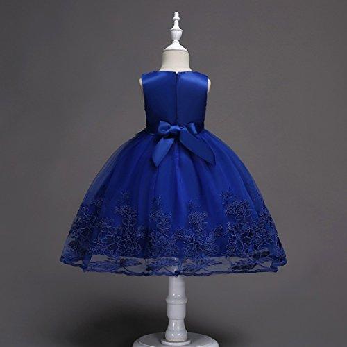 6 de de Girls Patchwork de colores Lace moichien os bodas marino Tulle cumplea Azul Vestido Ai Flower fiesta Fiesta de pwF4qa