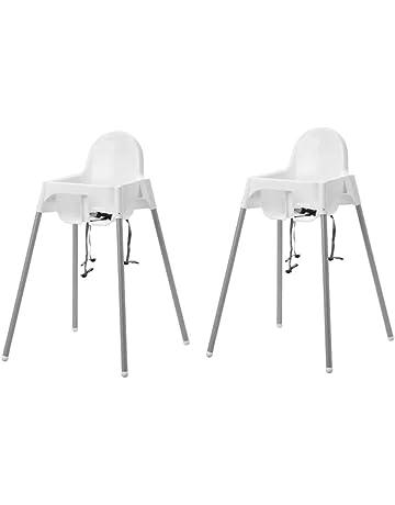 IKEA Antilop Trona para bebé, con cinturón de seguridad, fácil de mover gracias a