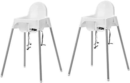 Ikea Chaise Haute Pour Enfant Antilop Chaise De Bébé En Blanc Avec Sangle De Sécurité Mobile Grâce à Ses Pieds Amovibles