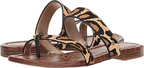 Sam Edelman Women's Bernice Slide Sandal New Nude Leopard Brahma Hair