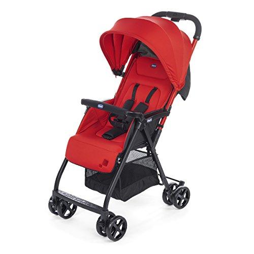 Chicco Ohlala 2 - Silla de paseo ultra ligera y compacta, facil conduccion, solo pesa 3,8 kg, color rojo (Paprika)