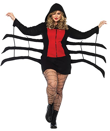 Womens Halloween Costume- Spider Black Widow Cozy Adult Costume Xxxlarge
