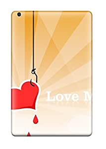 Forever Collectibles Love Me Red Heart Orange White Lines Hearts Romantic Vday February Lovers Valentines Holiday Valentines Day Hard Snap-on Ipad Mini/mini 2 Case