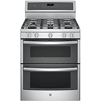 "GE PGB980ZEJSS 30"" Stainless Steel Gas Sealed Burner Double Oven Range - Convection"