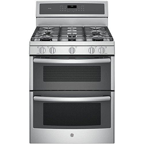 GE PGB980ZEJSS 30″ Stainless Steel Gas Sealed Burner Double Oven Range – Convection