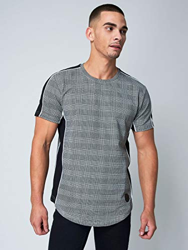 90abe1ec6112 Project X Paris Prince of Wales Check Printed T-Shirt Men Black