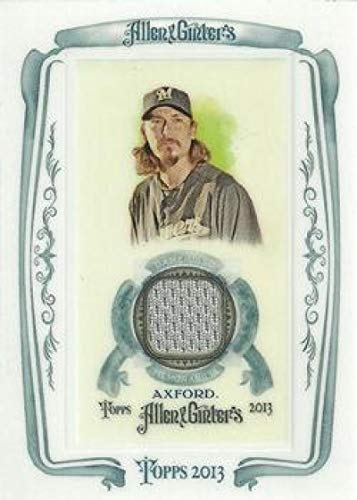 (2013 Allen and Ginter Framed Mini Relics #JAX John Axford Brewers MLB Baseball Card (Memorabilia/Game Used) NM-MT)