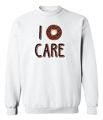 613089619b1d Funny  quot I Donut Care quot  Graphic Design Crew Neck Sweatshirt ...