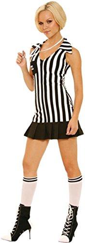 Elegant Moments Women's Racy Referee, Black/White, Medium