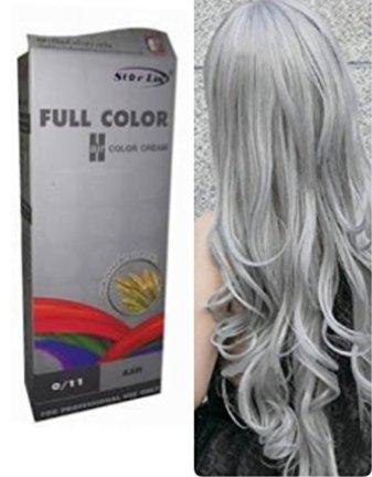 Premium Permanent Hair Color Cream Dyeing Grey Silver Cosplay No. 0/11