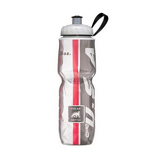 Polar Bottle Insulated Water Bottle (24-Ounce) (Red/Black)
