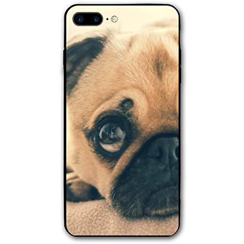 Adult Fawn - Cute Christmas Adult Fawn Pug Sofa iPhone 8 Plus Case, iPhone 7 Plus Case, Ultra Thin Lightweight Cover Shell, Anti Scratch Durable, Shock Absorb Bumper Environmental Protection Case Cover