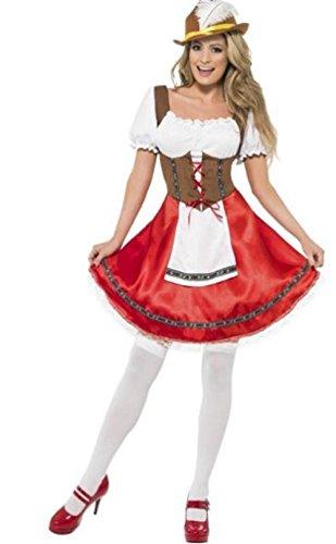 Qichuhua Women's Oktoberfest Costume Bar Maid Cosplay Costume (Bavarian Bar Maid Costume)