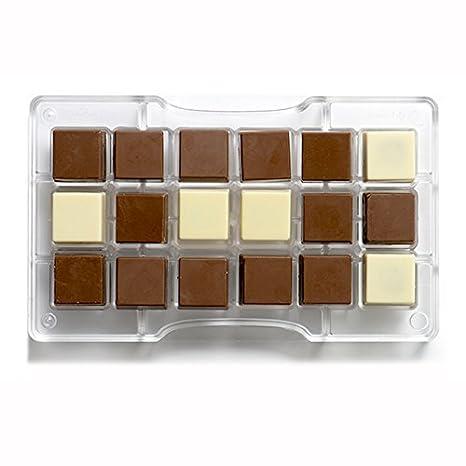 Decora del panel de chocolate del molde, de policarbonato, transparente, 200 x 120 x 23 mm: Amazon.es: Hogar