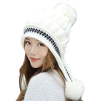 Mujer Sombrero de Orejeras de Punto bee7dcb92e0