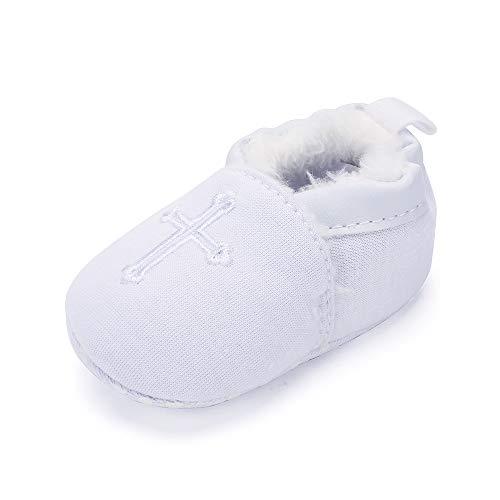 Bianco Lacofia Mesi Da Morbida Battesimo Neonato 12 Scarpe 6 qPY4X6w