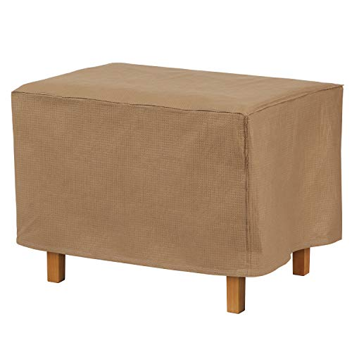 "Duck Covers Essential Rectangular Patio Ottoman or Side Table Cover, 52"" L x 30"" W x 18"" H"