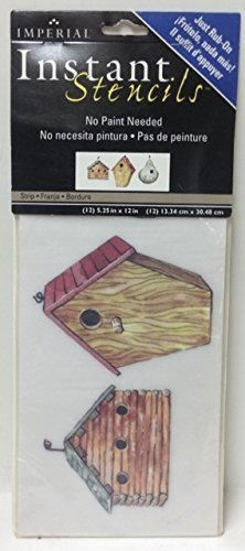 - Imperial Instant Stencils-Bird Houses, IS1013