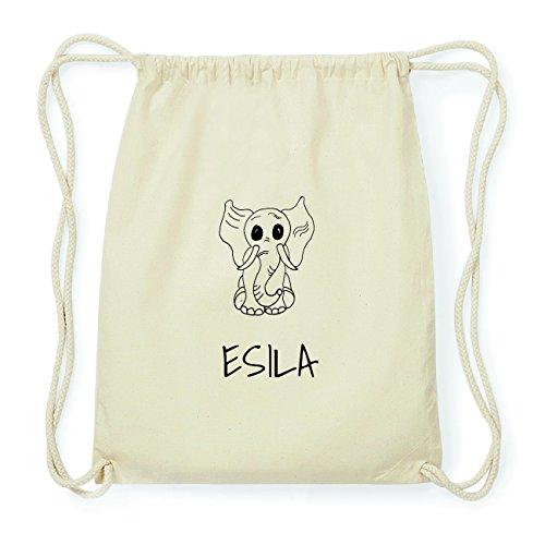 JOllipets ESILA Hipster Turnbeutel Tasche Rucksack aus Baumwolle Design: Elefant