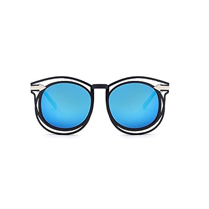 Da Blue Occhiali Sunglasses- Nuovi Colorati Arrow Tablets Hollow Retro Mercury colore Sole Coreano