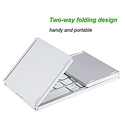 Amazon.com: Foldable Keyboard with Touch Pad, IKOS Tri- Folding Portable Keyboard for iPhone iPad Samsung Smartphone Tablet, Wireless BT Keyboard, ...