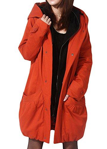 Minibee Womens Winter Outwear Hoodie Coat with Big Pockets