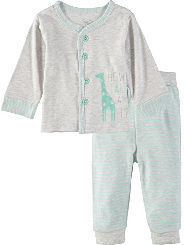 (Rene Rofe Baby Boys' 2 Piece Hooded Cardigan and Pant Set for, Mint Giraffe, 3-6 Months)