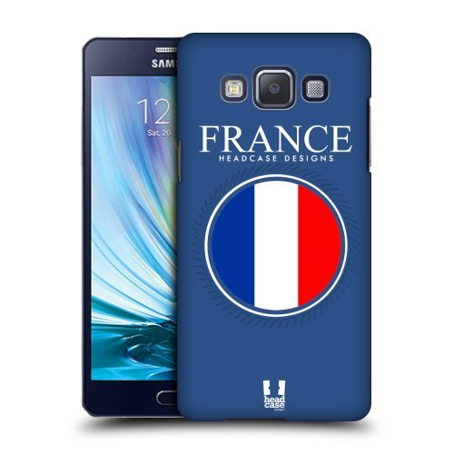 Head Case Designs French Flag Patches Protective Snap-on Hard Back Case Cover for Samsung Galaxy A5 Duos 3G A500H LTE A5000 LTE A500F
