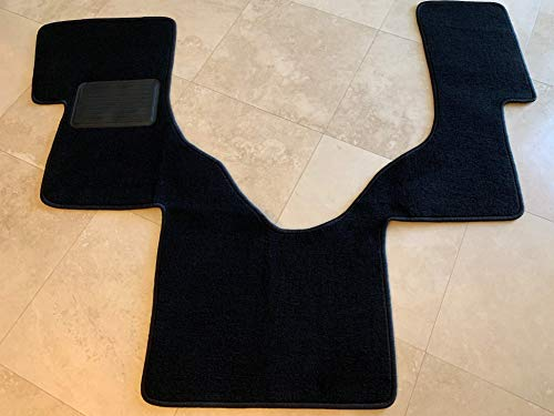 Carpet Replacement Ford - Downard Automotive Mat Compatible with Ford Econoline E-Series Floor Mat Carpet Custom Fit Replacement 1 PC Front Serged Edges & Heel Pad - Black Fits 2006-2019