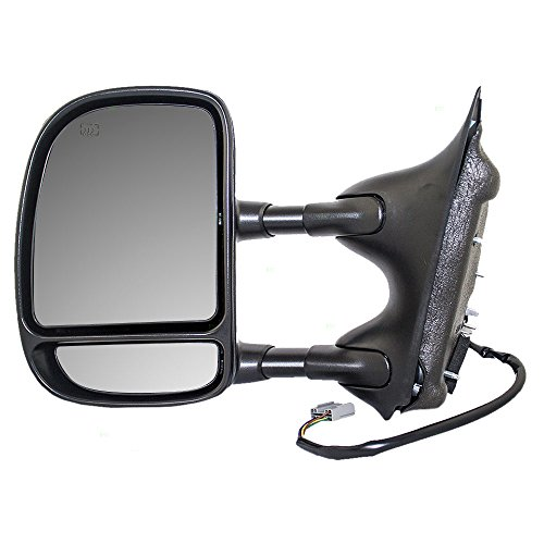 Drivers Telescopic Tow Power Side View Mirror Heated Signal Textured Replacement for Ford Pickup Truck SUV 5C3Z17683EAA