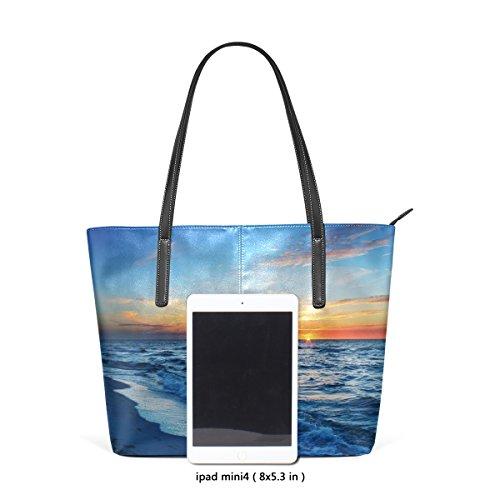 Main Muticolour À Coosun Et Sacs Fourre Blue Water Pour Beach Cuir Pu And Sea tout Sac Bandoulière Moyen Les En Sunset Femmes PP4q7w