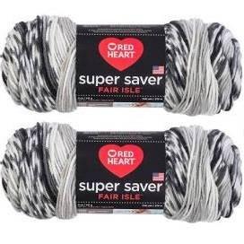 3 Pack Red Heart Super Saver Fair Isle Yarn-Calm