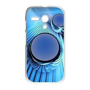 Blue Art Motorola G Cell Phone Case White KXH
