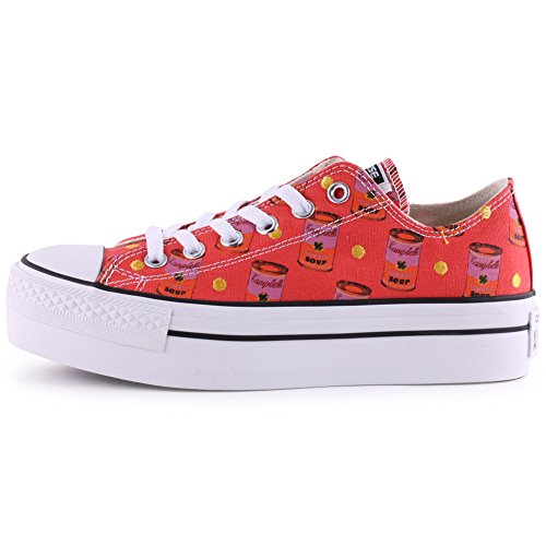 Converse All Star Plate-forme Donna Sneaker Rosa