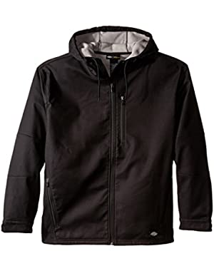 Men's Big Bonded Canvas Softshell Jacket with Hood