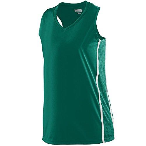 Racerback Jersey Softball (Augusta Sportswear WOMEN'S WINNING STREAK RACERBACK JERSEY L Dark Green/White)