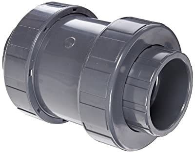 """Hayward TC1400SE Series TC True Union Ball Check Valve, Socket End, PVC with EPDM Seals, 4"""" Size from Hayward Industries, Inc."""