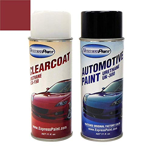 ExpressPaint Aerosol - Automotive Touch-up Paint for Kia Sorento - Spicy Red Metallic Clearcoat IY - Color + Clearcoat Package