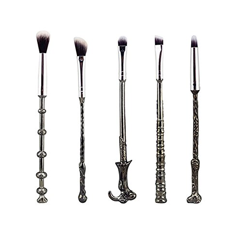 Wizard Wand Brushes,Wechip 5 PCS Makeup Brush Set for Foundation Blending Blush Concealer Eyebrow Face Powder