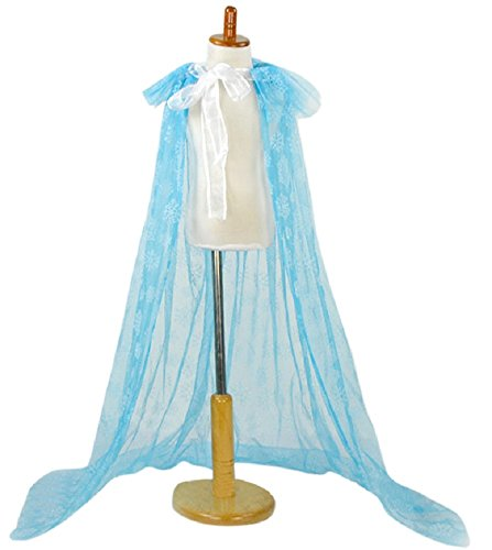 [Snow Queen Elsa Blue Snowflake Cape] (Snow White The Queen Costume)